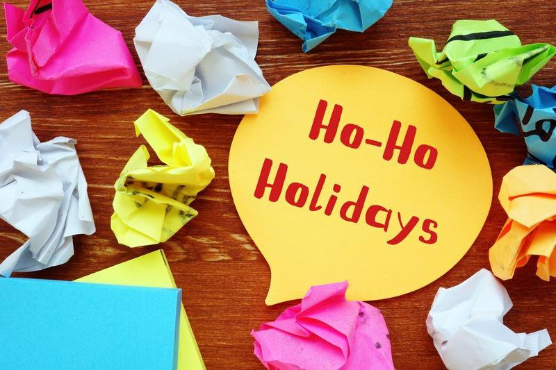 holiday sticky note reminders